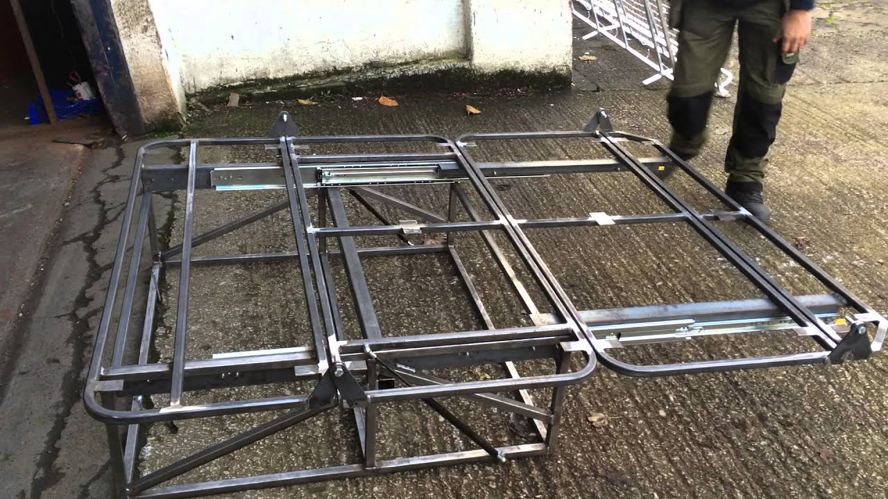 Autobeds Rear Pull Out Bed Frame With Gas Struts Rock N