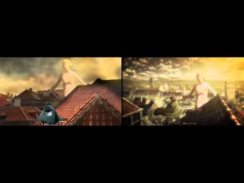 Shingeki no Kyojin Fanmade vs Original Cosplay CMV 進撃の巨人 Attack on titan Jiyuu no tsubasa 自由の翼