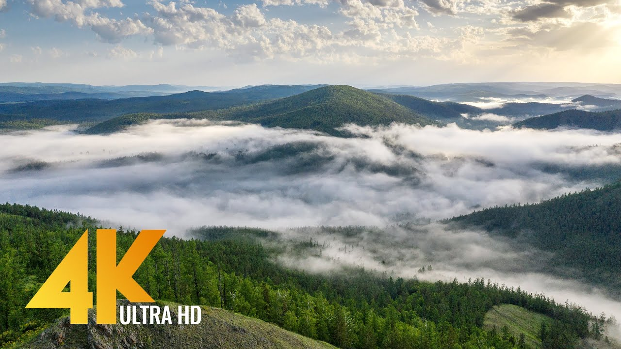 Southern Urals from Above - Ural Mountains from the Height of Birds Flight - 4K Aerial Film (6 HRS)