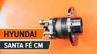 HYUNDAI SANTA FÉ II (CM) hátsó és első Kerékcsapágy szerelési: ingyenes videó
