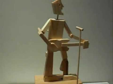 Timberkits Guitarist Wooden Automaton