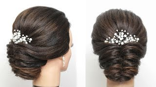 Simple New Girl Hair Style. Easy Hairdo
