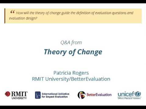 Theory of Change - Definition of evaluation questions and evaluation design