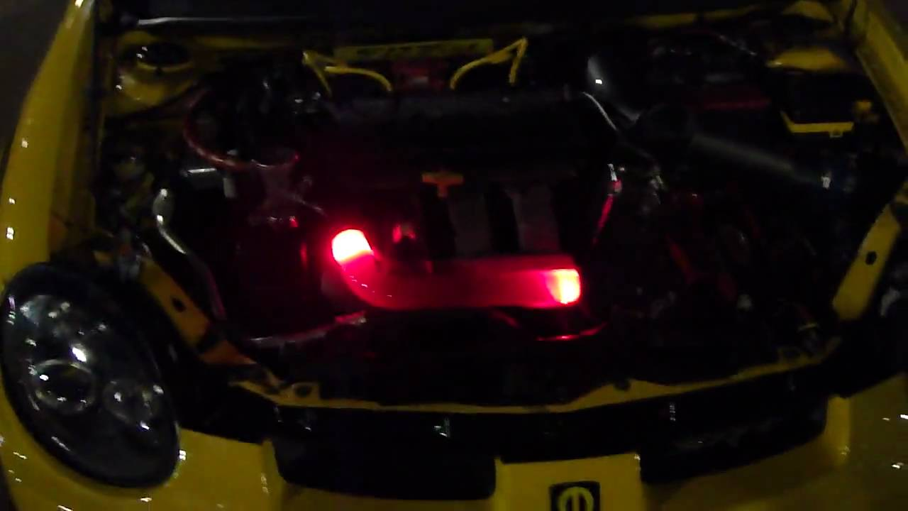 Killerglass Clear Radiator Hose in Dodge Neon SRT-4 engine bay @ Hot Import Night 9/11/2009 ...