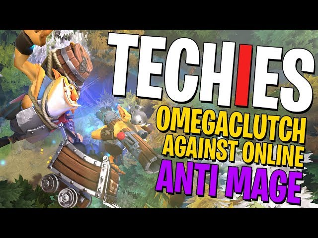 Techies Omegaclutch Against ONLINE Anti Mage - DotA 2