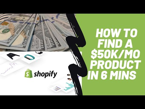 Shopify Dropshipping - How I found a $50k/month  Product in 6 Minutes in 2020 thumbnail