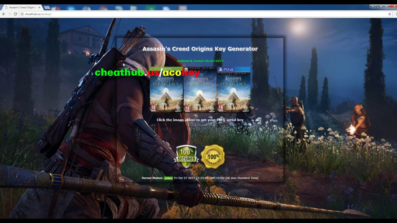 Assassin's Creed Origins Key | Free Steam Key Generator