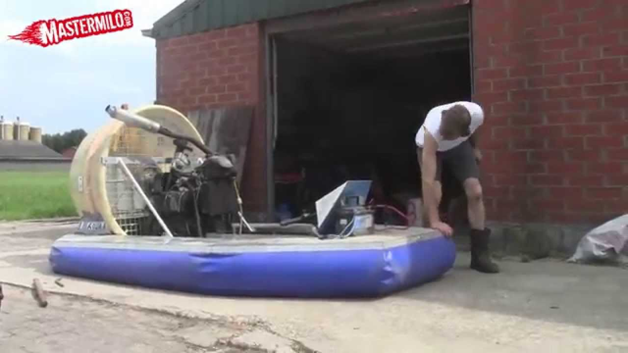 Home made Hovercraft 1st test - YouTube