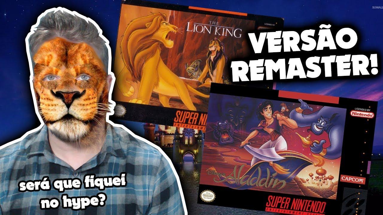 REMASTERIZAÇÃO de Rei Leão e Aladdin anunciados!! OMG!!