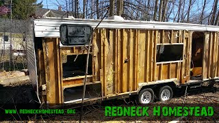 Beautiful New Trailer For The Harbor Freight/central Machinery Band Saw Mill | Redneck Homestead