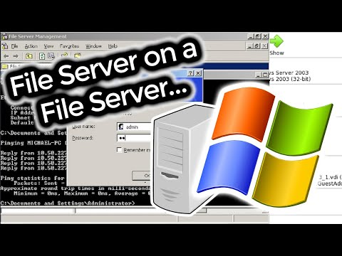 Creating A Windows Server 2003 File Server On A NAS That's Being Used As A File Server...