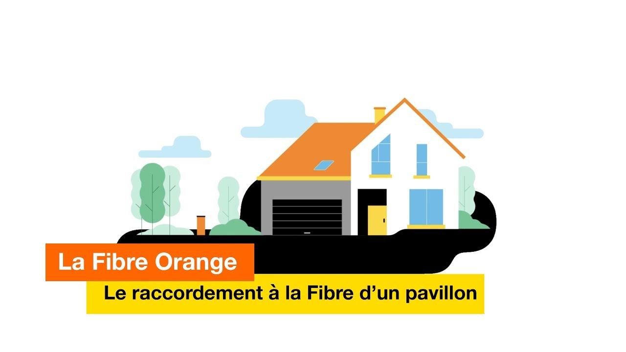 la fibre le raccordement la fibre d un pavillon orange youtube. Black Bedroom Furniture Sets. Home Design Ideas