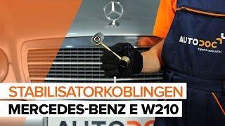 Skift Stabilisatorarm MERCEDES-BENZ E-CLASS (W210) - online gratis video
