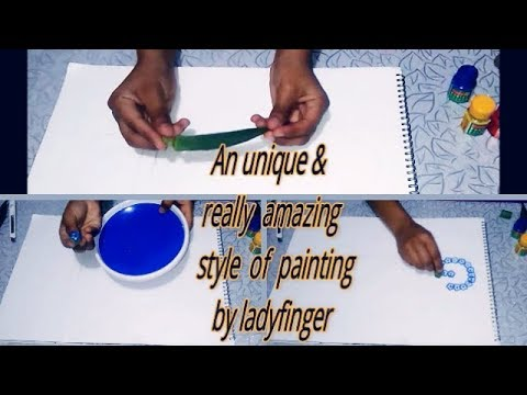 It's An Unique Style Of Ladyfinger (Bhindi ) Painting For New Generation Kids    Activity For Kids 