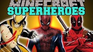 Minecraft: SUPERHEROES (SPIDERMAN, WOLVERINE, DEADPOOL, & MORE!) Mod Showcase