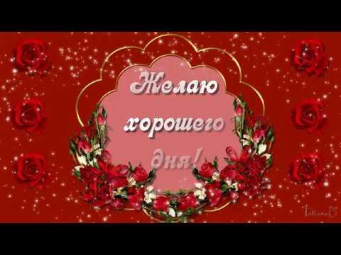 Желаю хорошего дня! Красивейшее Видео пожелание!