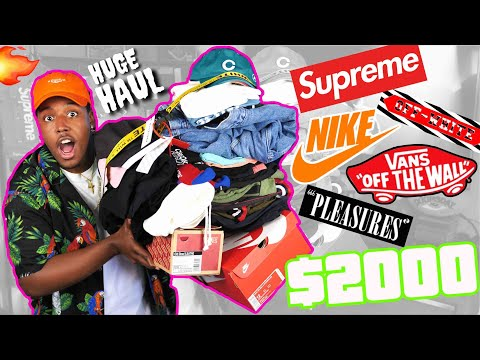 INSANE HYPEBEAST BACK TO SCHOOL CLOTHING HAUL! $2000 IN SUPR