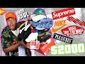 INSANE HYPEBEAST BACK TO SCHOOL CLOTHING HAUL! $2000 IN SUPREME, OFF-WHITE, NIKE, VANS, & MORE!