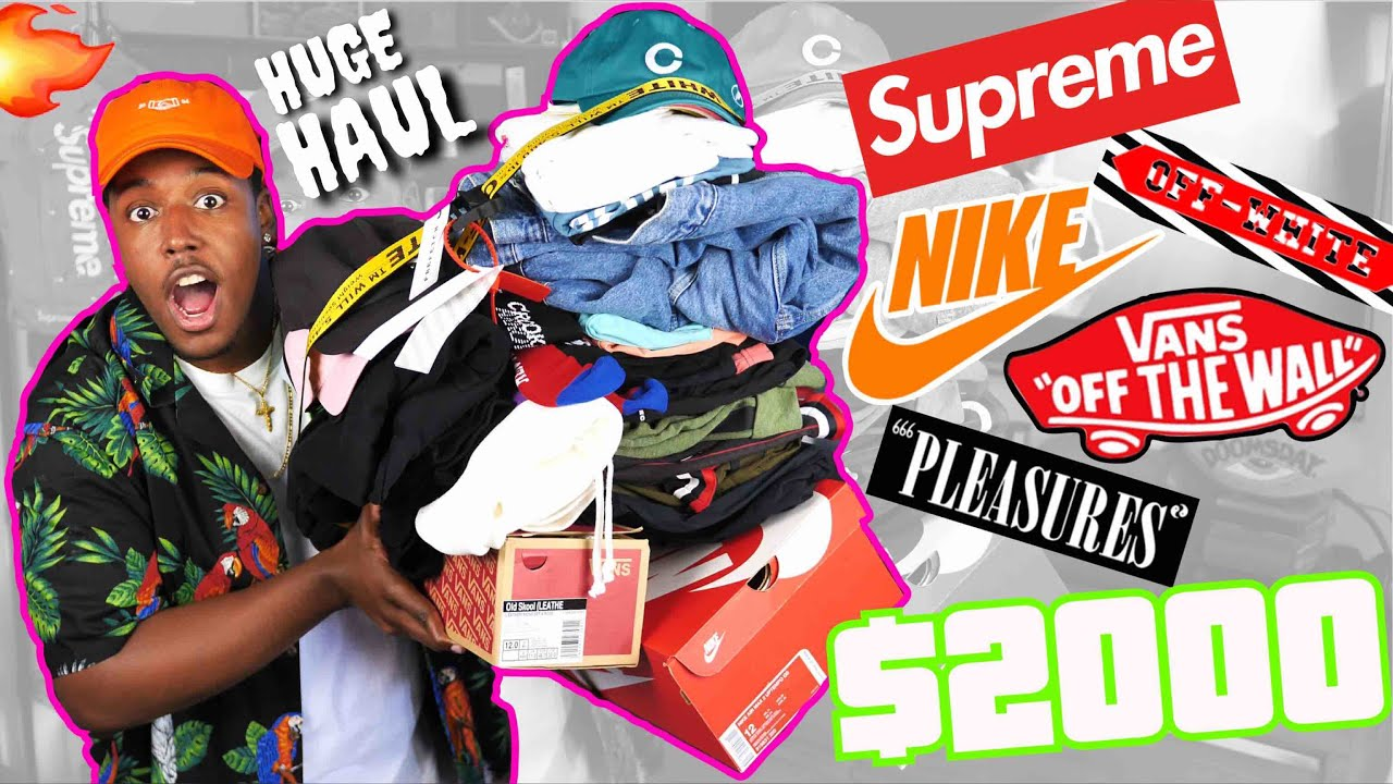 3dcff6cadc2b INSANE HYPEBEAST BACK TO SCHOOL CLOTHING HAUL!  2000 IN SUPREME