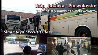 Trip Jakarta - Purwokerto Bus Sinar jaya