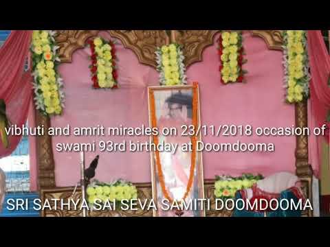 Vibhuti and amrit miracles from baba photo on 23/11/2018 at Doomdooma