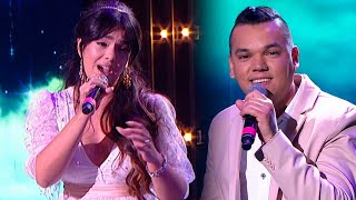 Ángela Leiva y Brian Lanzelotta trajeron amor a la pista cantando