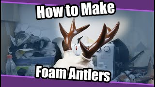 //Tutorial #96// Foam Antlers For Fursuits & Cosplay + PDF Template
