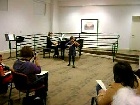 Remi playing Twinkle theme - Nevada School of Arts 2008 Recital - Suzuki Concert