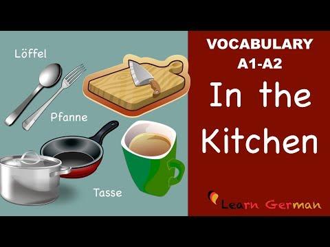 Learn German | German Vocabulary | In der Küche | In the Kitchen | A1