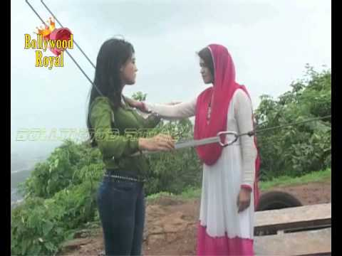 On location of TV Serial 'Qubool Hai'Tanveer pushes Zoya off the cliff to kill her Part-3