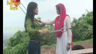 On location of TV Serial 'Qubool Hai'  Tanveer pushes Zoya off the cliff to kill her Part-3
