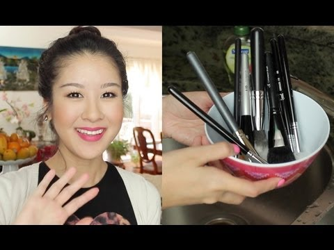 How I Spot Clean & Deep Clean My Brushes +...