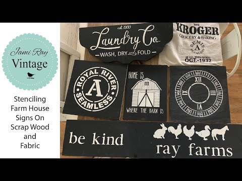 🔴 Stenciling Scrap Wood | Old Salvage Door | Farmhouse Signs