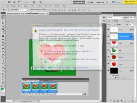 สอนใช้งาน Photoshop CS5 ตอนที่ 42 - สร้างภาพเคลื่อนไหว GIF