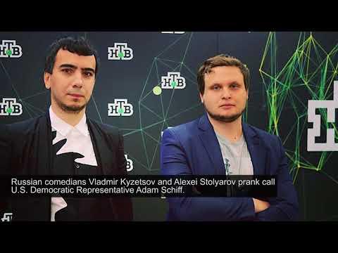 Russian comedians prank phone call US representative Adam Schiff FULL HD