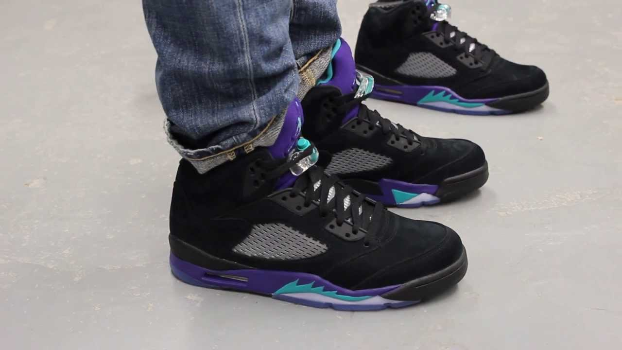 air jordan retro 5 black grape