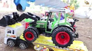 รถแทรกเตอร์ไถ่นา รถไถ่นาของเล่น รถเกี่ยวข้าว รถดั้ม รถของเล่นก่อสร้าง Tracktor and Plow