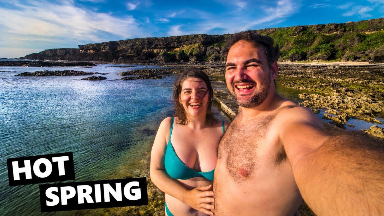 Unique OCEANSIDE HOT SPRING On Green Island!!
