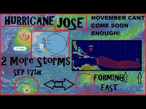 *HURRICANE JOSE* Now a HUGE Risk To NORTHEAST 2 MORE STORMS FORMING FAST