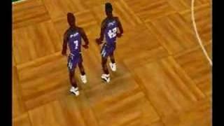 NBA Action SEGA Saturn . Intro and Gameplay