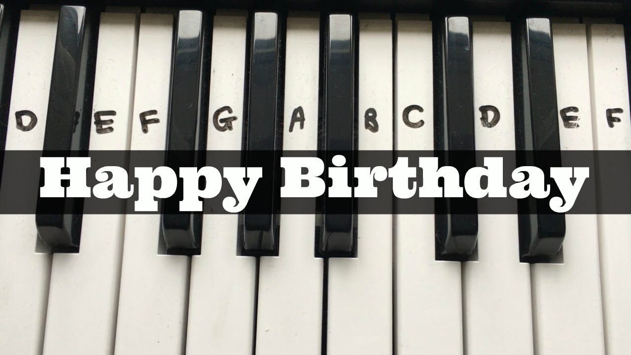 Happy Birthday Easy Keyboard Tutorial With Notes Right Hand