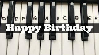 Happy Birthday | Easy Keyboard Tutorial With Notes (Right Hand)