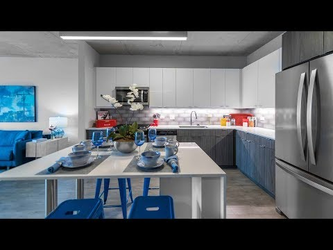 A Wrigleyville one-bedroom model at the new Addison & Clark apartments