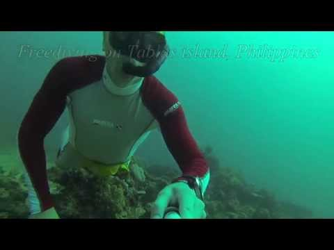 Freediving on Tablas island, Philippines
