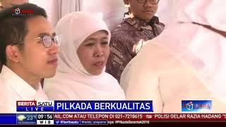 Sebelum Datangi TPS, Khofifah Ziarah ke Makam Suami dan Ibu
