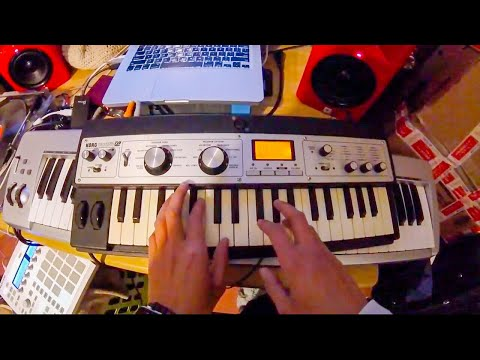 Making a beat with Korg Microkorg XL