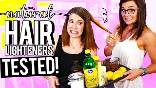 Testing 5 Ways To LIGHTEN Your Hair Naturally - AVOID ONE THAT RUINED MY HAIR