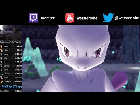 Pokemon Lets Go Pikachu - VS Mewtwo & Capture