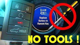 Cadillac Key Fob Battery Replacement: THE CORRECT WAY (SRX CTS XLR XTS)