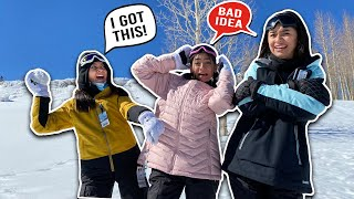 Last To Leave The FREEZING SNOW Wins | GEM Sisters